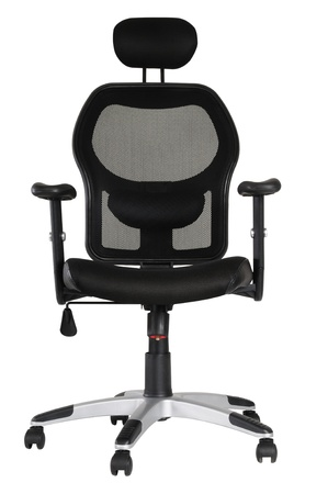 executive chair: Office seat  Isolated Stock Photo