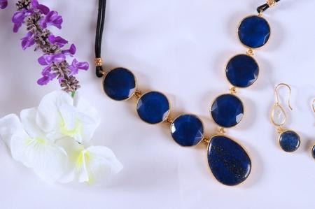 Blue emerald necklace  photo