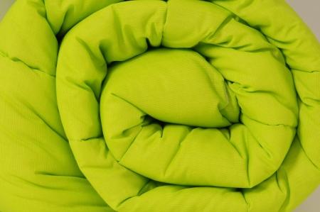 unattended: Rolled up duvet