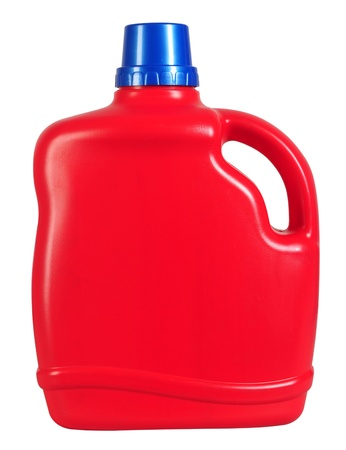 laundry: Aislado botella de detergente