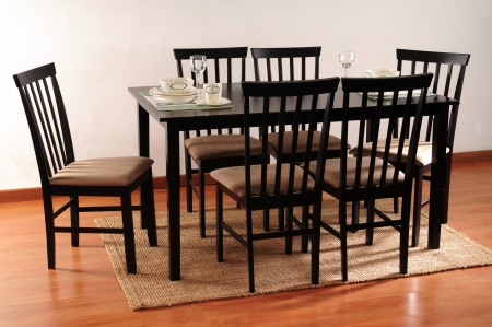 dining table and chairs: Dinning room