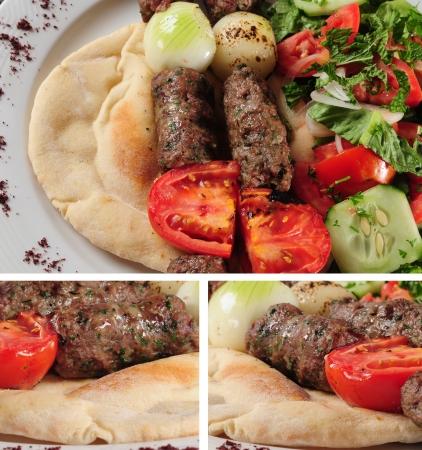 comida arabe: Brocheta Foto de archivo