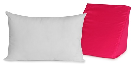 bed spreads: Pillow  Stock Photo