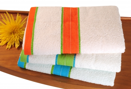 household chores: Bath towels  Isolated