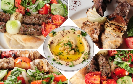 Séquence mélange Kebab Banque d'images - 15040870