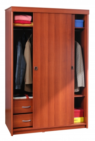Clothing cabinet  Isolated photo
