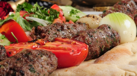 Shish kebab close up  Standard-Bild