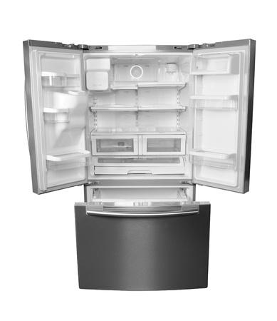 Empty fridge  Isolated Stock Photo