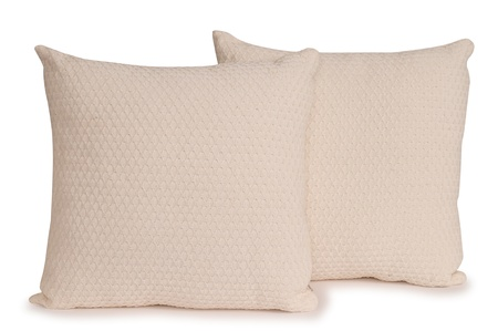 overlapped: Two pillows