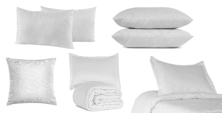 White bedding objects