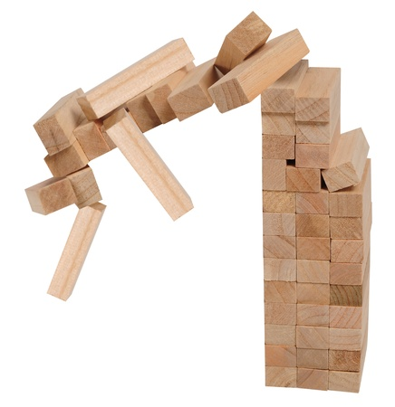 collapsed: Falling wooden blocks