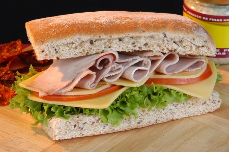 Turkey sandwich  photo