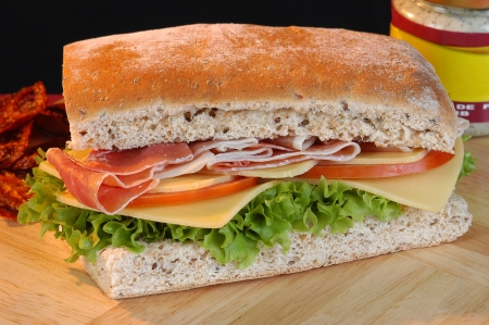 Prosciutto sandwich  photo
