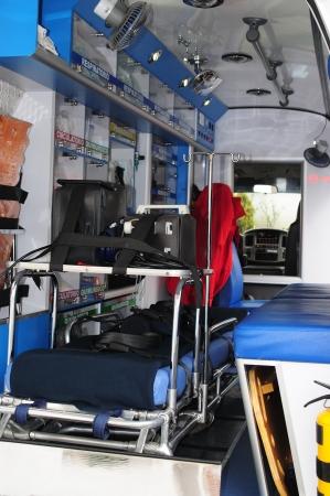 vehicle interior: Ambulance  Stock Photo