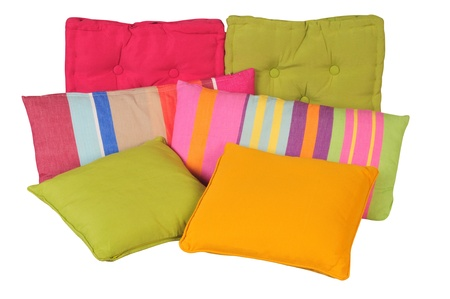 overlapped: Pillow  Isolated Stock Photo