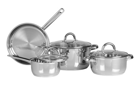Cooking pots  Isolated