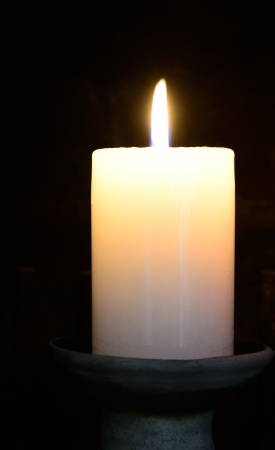 lit candle: Lit candle