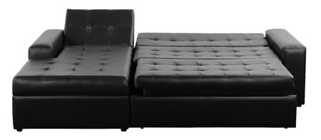 futon: Futon couch  Isolated