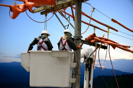 Linemen utility  Stock Photo