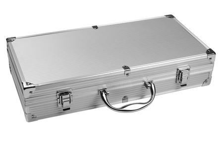Silver case  Isolated Stock Photo - 18837186