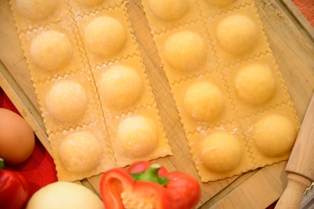 Homemade raviolis  photo