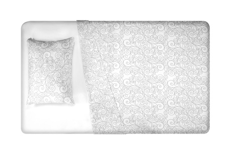 double bed: Bed  Isolated