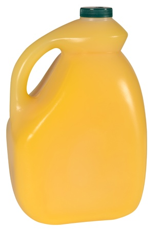 gallon: Orange juice bottle  Isolated Stock Photo