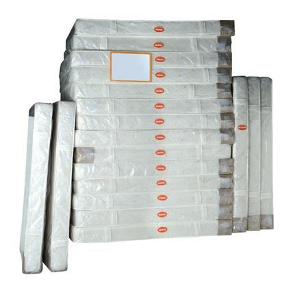 Stack of orthopedic mattresses  Standard-Bild