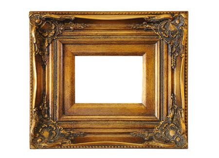 cadre antique: Antique cadre isol� Banque d'images