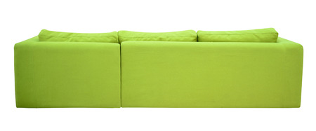 futon: Couch, rear view  Stock Photo