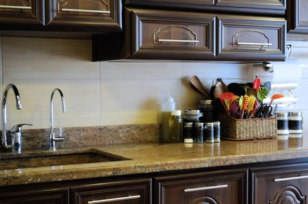 Domestic kitchen Standard-Bild