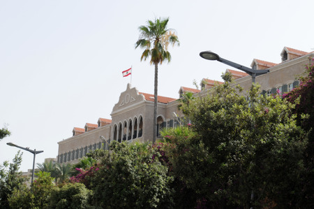 beirut lebanon: Parliament house in Beirut, Lebanon   Editorial