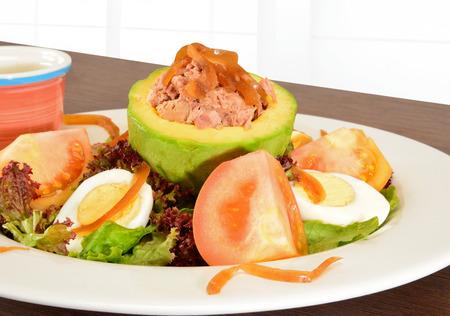 hf: Avocado and tuna salad  Stock Photo