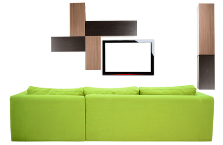 Living room furniture against white background  photo