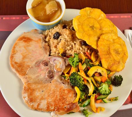 comida colombiana: Cocina colombiana Chuleta de cerdo