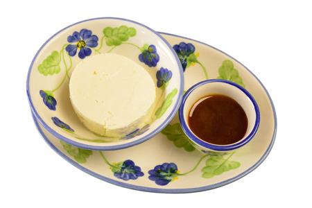 comida colombiana: Postre Queso blanco y miel