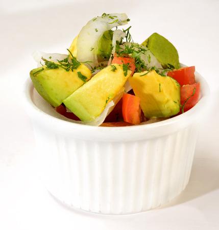 side salad: Avocado salad