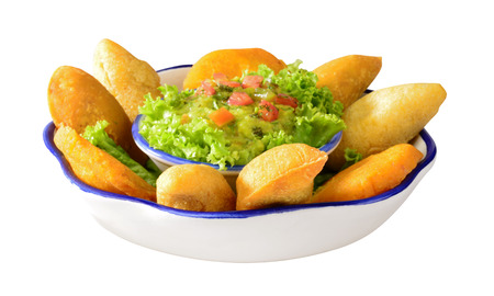 colombian food: Empanadas with guacamole