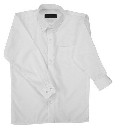 long sleeves: White shirt  Isolated