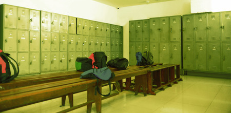 Locker room in a gym