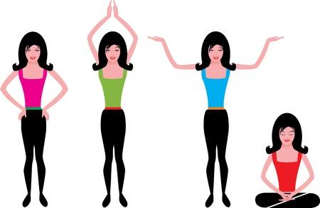 breathing exercise: Fitness yoga girl