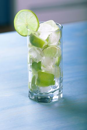 Fresh lime cocktail with ice Stock Photo - 5743926
