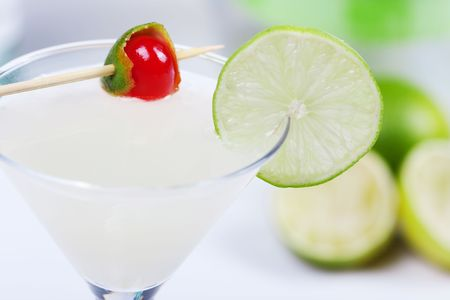 Alcohol cocktail with lime in martini glass Stock Photo - 5779326