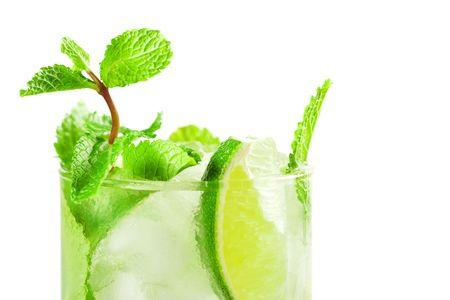 Fresh mojito cocktail isolated on white background Stock Photo - 5838175