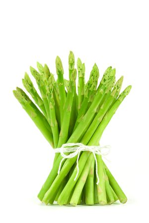 asparagus: The beam of asparagus isolated on white background