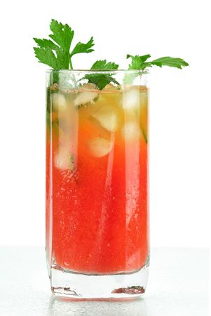 Blood mary alcohol cocktail with tomatos and celery Stock Photo - 5866305