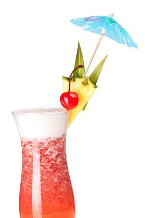 Cocktail collection: Strawberry Pina Colada isolated on white background Stock Photo - 6123570