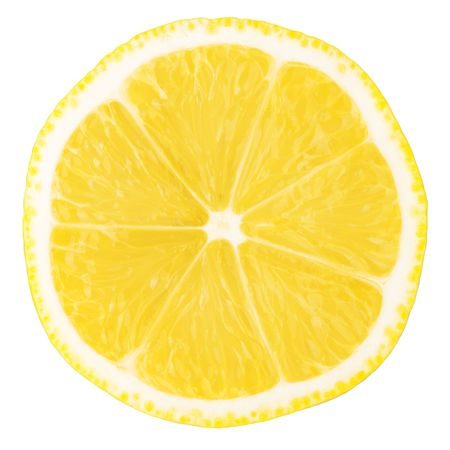 Macro food collection - Lemon slice. Isolated on white background photo