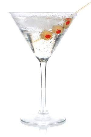 Cocktail collection - Classic martini. Isolated on white background photo
