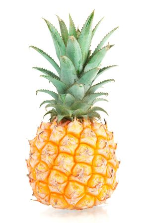 Sweet Mini Pineapple. Isolated on white background photo